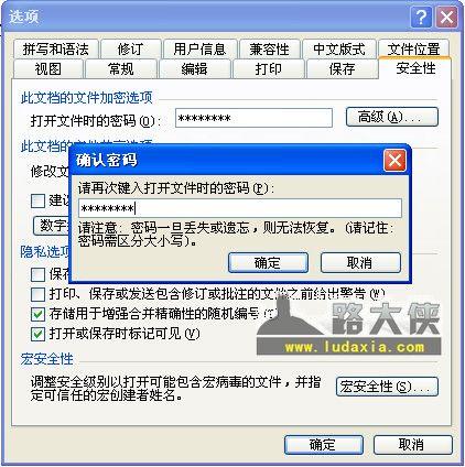 给WORD、Excel加密,防止别人偷看文档 - 第2张  | 大博辞