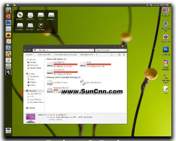 高仿Ubuntu的一款win7主题 - 第1张  | 大博辞