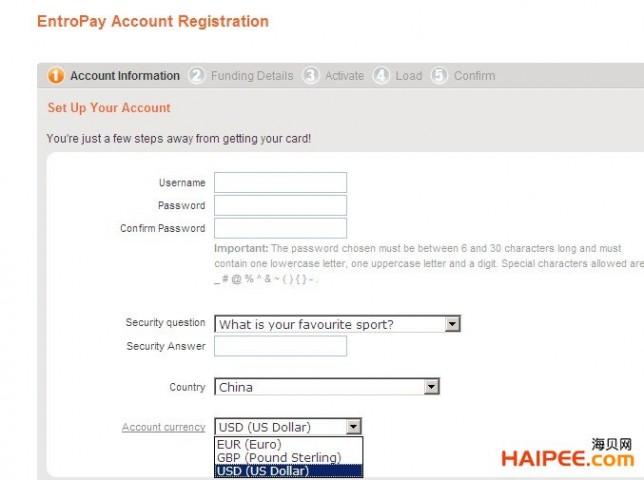 国际虚拟信用卡Entropay欧贝通申请、充值与资费宝典 - 第5张  | 大博辞