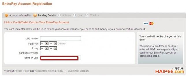 国际虚拟信用卡Entropay欧贝通申请、充值与资费宝典 - 第7张  | 大博辞