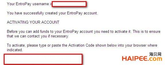 国际虚拟信用卡Entropay欧贝通申请、充值与资费宝典 - 第9张  | 大博辞