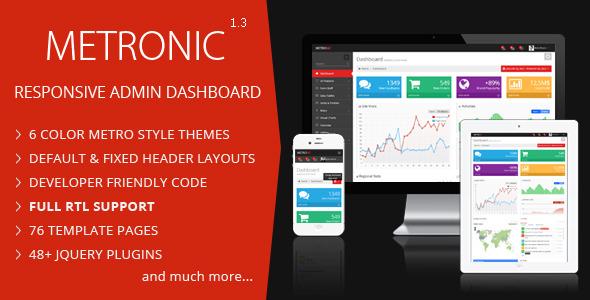Metronic – 超赞!基于 Bootstrap 的响应式后台管理模板