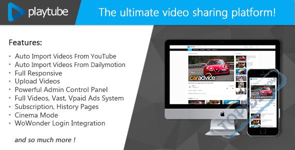 PlayTube V1.4.5.1开心版 - - PHP视频上传分享源码